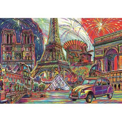 Puzzle Trefl-10524 Colours of Paris