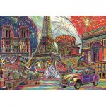 Puzzle  Trefl-10524 Colours of Paris
