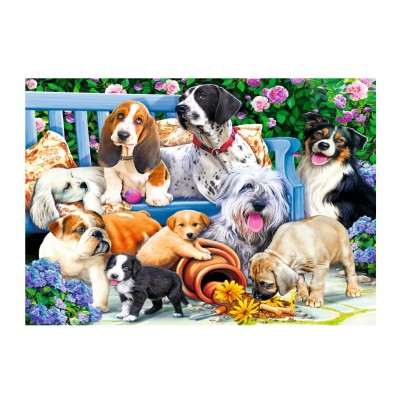 Puzzle Trefl-10556 Dogs in the Garden
