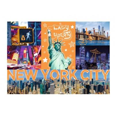 Puzzle Trefl-10579 Neon Color Line - New York City