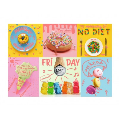 Puzzle  Trefl-10580 Neon Color Line - Sweet Week