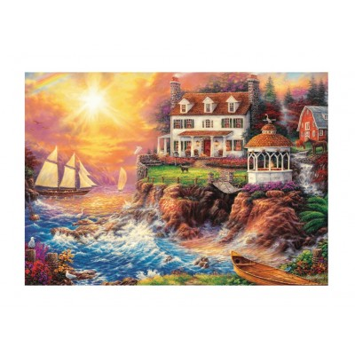 Puzzle Trefl-10582 Ein ruhiger Hafen
