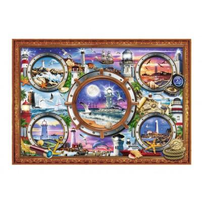 Puzzle Trefl-10584 Leuchttürme