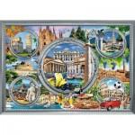 Puzzle  Trefl-10585 Italienischer Urlaub