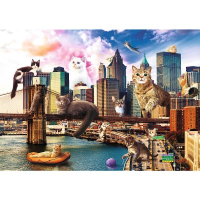Puzzle  Trefl-10595 Kittens in New York
