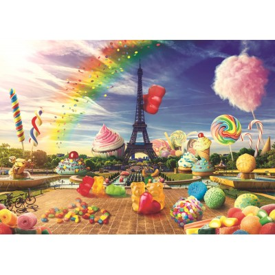 Puzzle Trefl-10597 Sweet Paris
