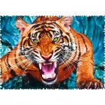 Puzzle  Trefl-11110 Crazy Shapes - Facing a tiger