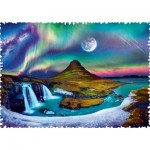 Puzzle  Trefl-11114 Crazy Shapes - Aurora over Iceland