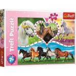 Puzzle  Trefl-13248 Pferde