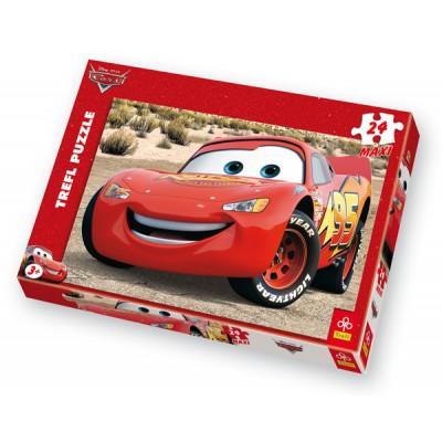 Puzzle Trefl-14082 Cars: Flash Mc Queen