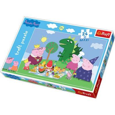 Puzzle  Trefl-14157 Große Teile - Peppa Pig