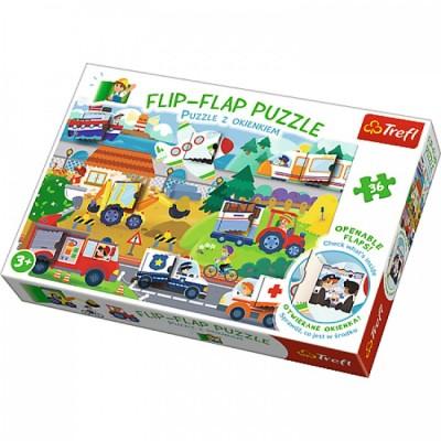 Trefl-14273 Flip Flap Puzzle - Fahrzeuge