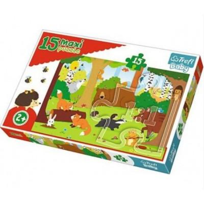 Puzzle Trefl-14276 XXL Teile - Tiere im Wald