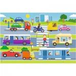 Puzzle  Trefl-14279 XXL Teile - Fahrzeuge in der Stadt