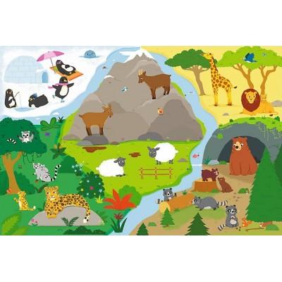 Puzzle Trefl-14280 XXL Teile - Tiere