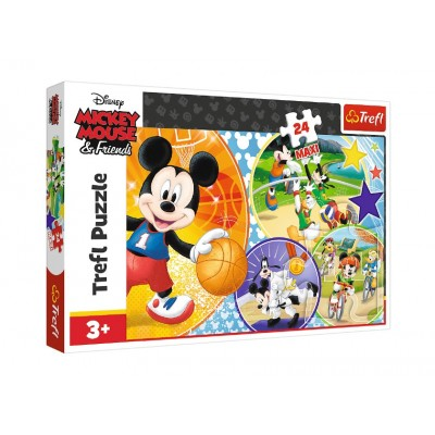 Puzzle Trefl-14291 XXL Teile - Mickey Mouse and Friends