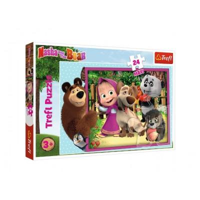 Puzzle  Trefl-14301 XXL Teile - Masha & the Bear