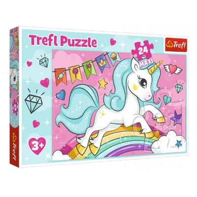 Puzzle  Trefl-14302 XXL Teile - Einhorn