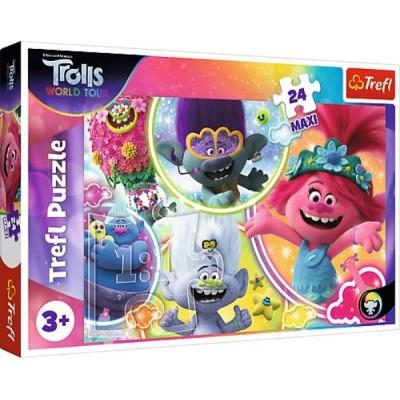 Puzzle  Trefl-14318 XXL Teile - Dreamworks - Trolls World Tour