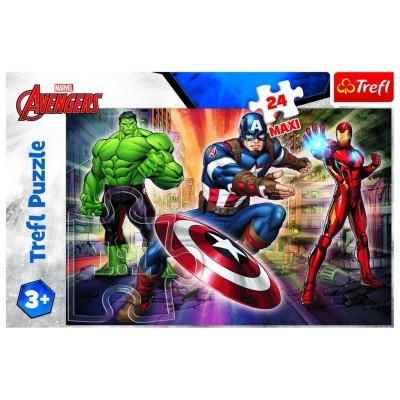 Puzzle  Trefl-14321 XXL Teile - Disney Marvel The Avengers