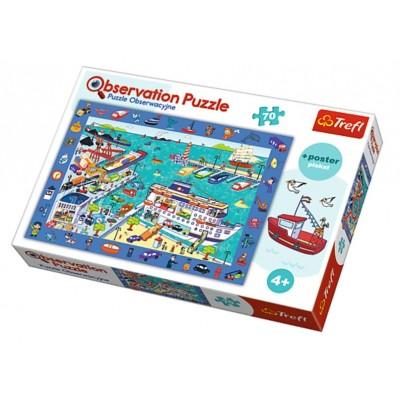 Trefl-15536 Puzzle Observation - Der Hafen