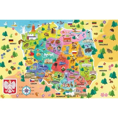Puzzle Trefl-15556 Karte von Polen (auf Polnisch)