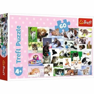 Puzzle  Trefl-17332 Katzenwelt