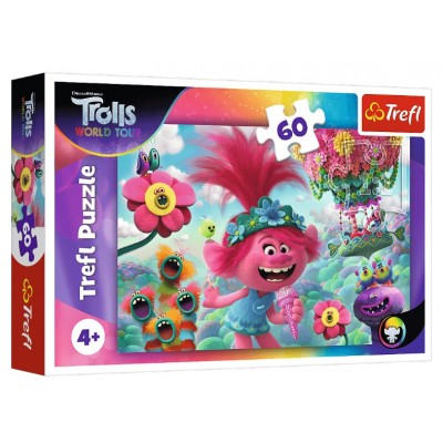 Puzzle  Trefl-17344 Dreamworks - Trolls World Tour