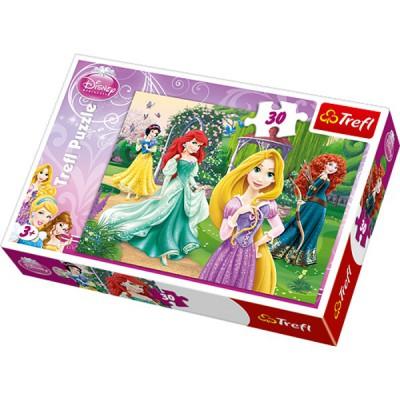 Puzzle  Trefl-18172 Elegante Disney Prinzessinnen