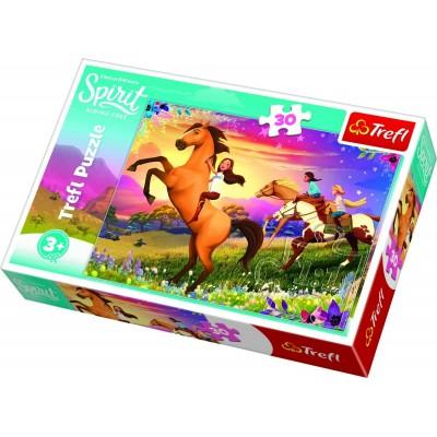 Puzzle  Trefl-18250 Dreamworks - Spirit Riding Free