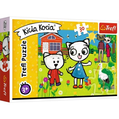 Puzzle  Trefl-18264 The Adventures of Kitty Feline