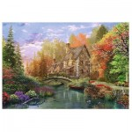 Puzzle  Trefl-26136 Dominic Davison: Cottage by the Lake