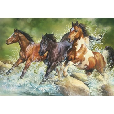Puzzle  Trefl-26148 Three Wild Horses