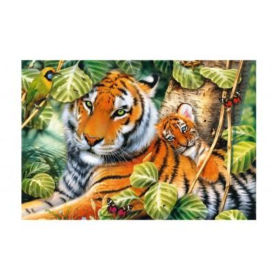 Puzzle Trefl-26159 Zwei Tiger