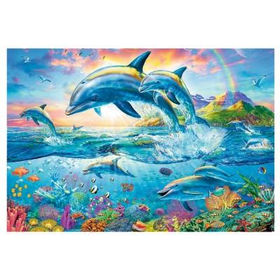 Puzzle  Trefl-26162 Delphinfamilie