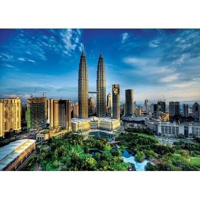 Puzzle  Trefl-27075 Twin Towers in Kuala Lumpur, Malaysien