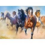 Puzzle  Trefl-27098 Galoppierende Herde von Pferden