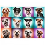 Puzzle  Trefl-27119 Funny Dog Portraits