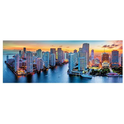 Puzzle Trefl-29027 Miami bei Nacht