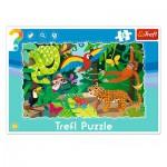 Trefl-31219 Rahmenpuzzle - Tropischer Regenwald