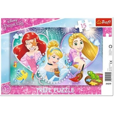 Trefl-31279 Rahmenpuzzle - Disney Princess