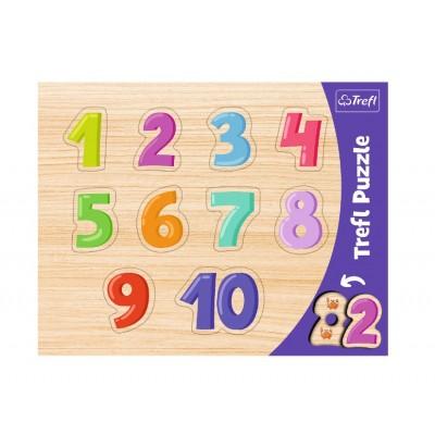 Trefl-31304 Rahmenpuzzle - 1-10