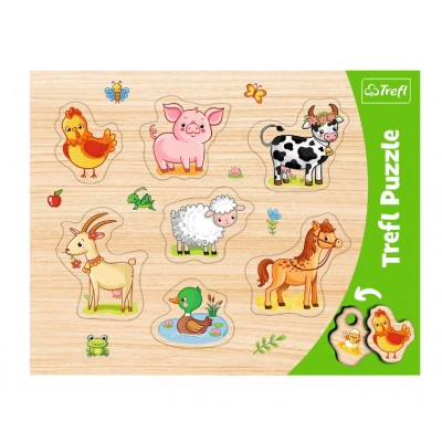 Trefl-31305 Rahmenpuzzle - Nutztiere