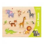 Trefl-31308 Rahmenpuzzle - Wilde Tiere