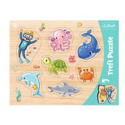 Trefl-31309 Rahmenpuzzle - Meerestiere