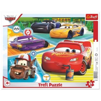 Trefl-31346 Rahmenpuzzle - Cars
