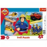 Trefl-31351 Rahmenpuzzle - Fireman Sam