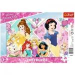 Trefl-31352 Rahmenpuzzle - Disney Princess