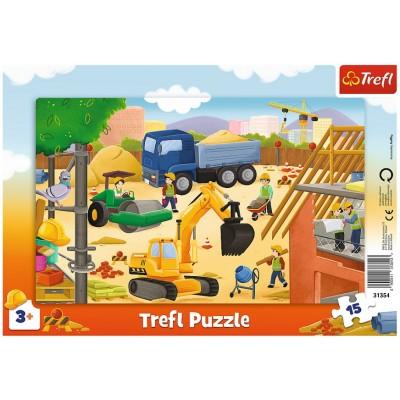 Trefl-31354 Rahmenpuzzle - Baustelle