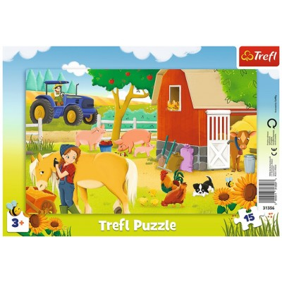 Trefl-31356 Rahmenpuzzle - Nutztiere